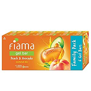 Fiama Gel Bar Peach and Avocado, 125g (Count of 6)