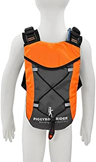Piggyback Rider Child Safety Harness Backpack for Hiking, Parks, Travel, Events, Amusement Parks, Festival, Concerts, Grocery Stores and More (Orange)