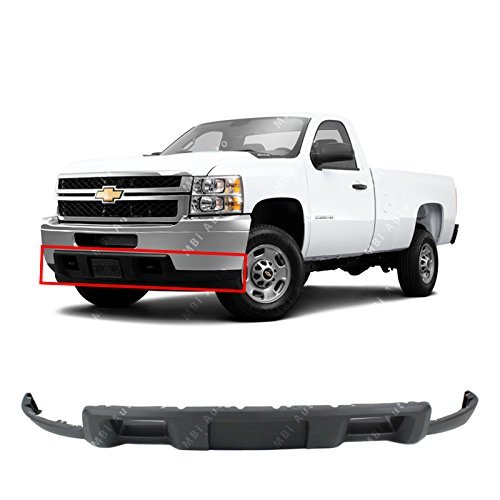 MBI AUTO - Textured, Front Lower Bumper Air Deflector for 2011-2014 Chevy Silverado 2500HD 3500HD 11-14, GM1092213