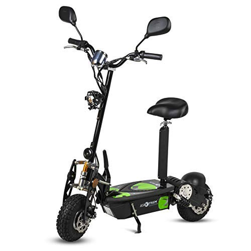 ECOXTREM Patinete, Scooter Tipo Moto Eléctrico Dos Ruedas, Color Negro, Plegable, con...