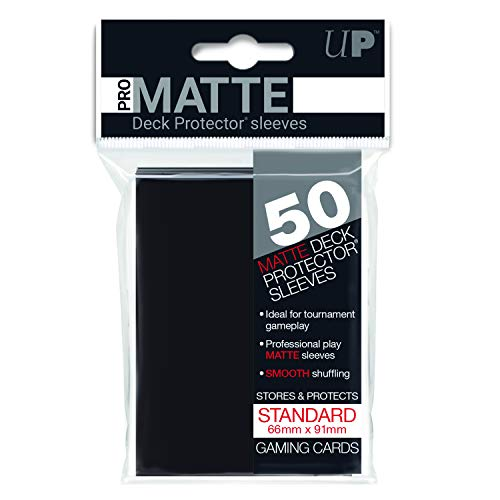 Deck Protector Sleeves: PRO-Matte 50 Black [Importato dalla Germania]