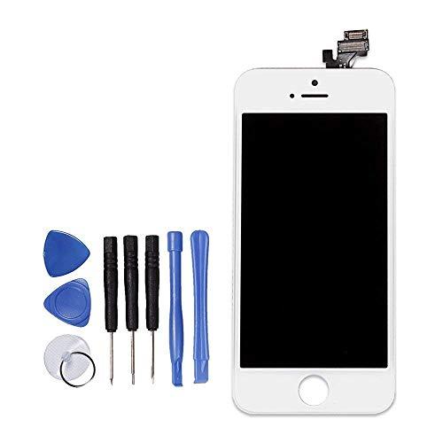 LL TRADER Bianco Display Per iPhone 5 5G Schermo LCD Touch Screen lente in vetro kit di trasformazione completo di ricambio + utensili inclusi in omaggio