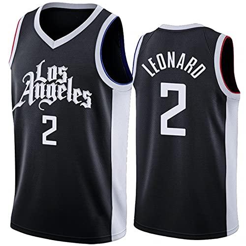 Clippers Leonard #2 Camisetas De Baloncesto para Hombre, Chaleco Deportivo De Uniforme De Baloncesto De Edición De Ciudad, Camiseta de Fan(Size:XL,Color:A1)