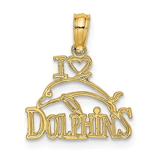 14ct goud ik hou van hart hanger ketting dolfijnen met Dolfijn foto sieraden geschenken voor vrouwen