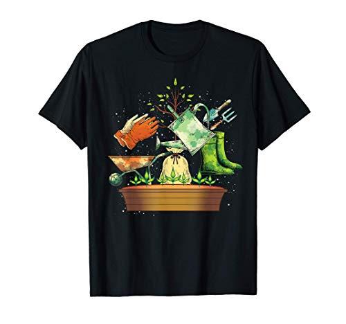 Equipement De Jardinier Amateur De Plantes Nature Jardinage T-Shirt