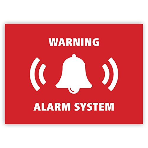 Junk Mail Blocker 5 x Alarm System Stickers - Security Alarm Warning Sign - for Doors Windows Cars - Weatherproof (7.4 x 5.2 cm)