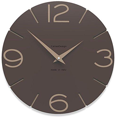 CalleaDesign 30 cm Orologio da Parete Smile Cioccolato