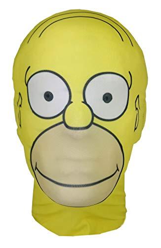 Mask Horrors Homer Simpson – The Simpsons Parody – Máscara de Licra de Cabeza Completa – Disfraz de Halloween