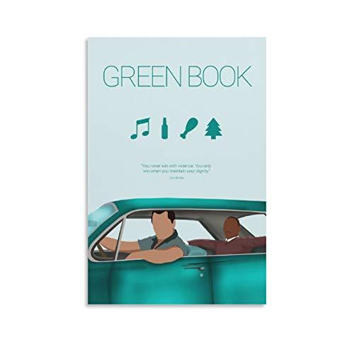 Póster de película minimalista de Green Book y arte de pared, impresión moderna