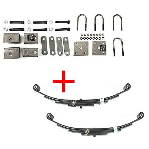 Southwest Wheel 3,500 lbs. Trailer Axle Suspension Kit Incl. Leaf Springs, Hanger & U-Bolt kit