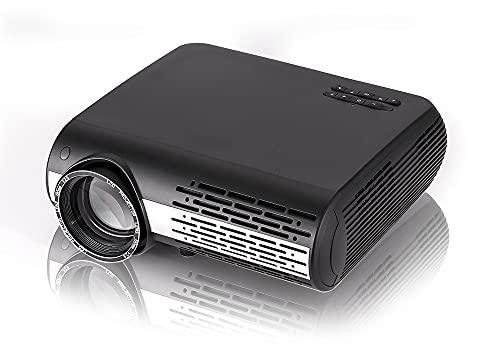 """Oferta de Seelumen 6500 Lúmenes Proyector Full HD 1080P (1920 x 1080) Proyector Cine en Casa con Corrección Digital, Android 6.0, AC3, Compatible con Netflix, Kodi, Playstore, Bluetooth, WiFi 5G, 200"""" (Negro)"""