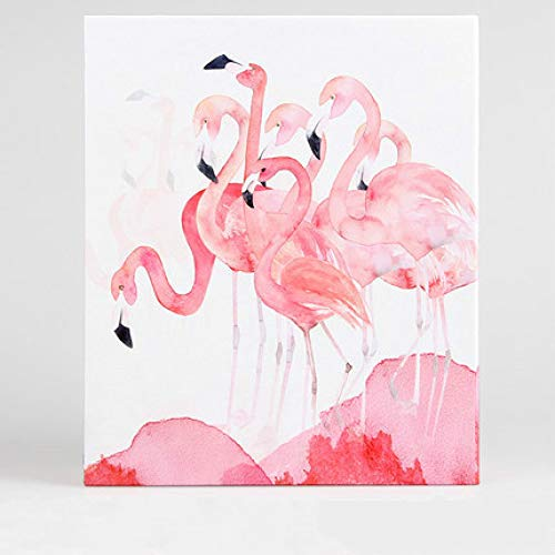 Heze Fotoalbum aus Plastik, 15,2 cm (6 Zoll), Panorama-Fotoalbum mit 200 Einsätzen, Bastelpapieroberfläche, transparente PP-Tüte, Flamingo, Holds 6-inch Plastic Over 200 Photos