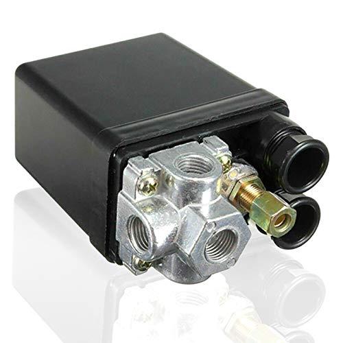Hezhu 90-175PSI - Compresor de aire con interruptor de presión (220 V, 20 A)