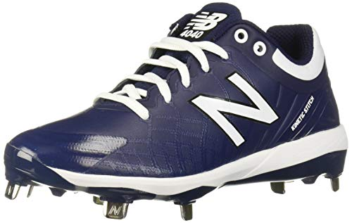 New Balance Men's 4040 V5 Metal Baseball Shoe, Navy/White, 12 M US