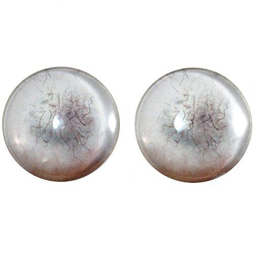 40mm Par de Dead Zombie cristal Ojos, para hacer de joyera, muecas, Esculturas, ms