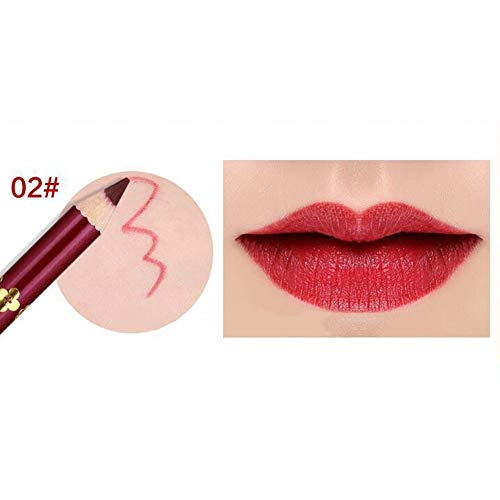 Yiwa Crayon imperméable à lèvres,Lipliner professionnel pour maquillage 2#