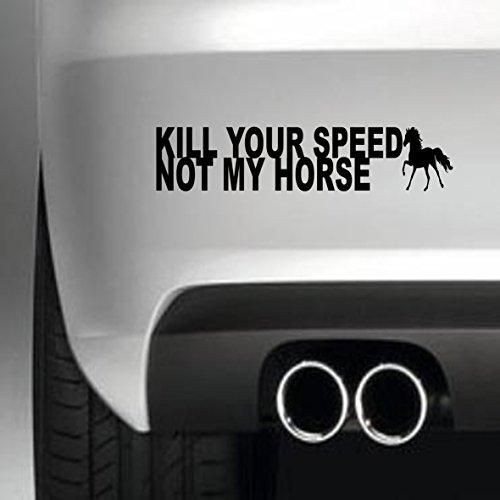 South Coast Stickers doden uw snelheid niet mijn paard STICKER FUNNY BUMPER STICKER auto van 4X4 WINDOW schilderwerk DECAL EURO LAPTOP DRIVE