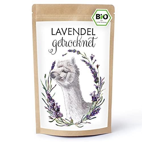 BIO Lavendel getrocknet. Lavendelblüten können für die Herstellung von Lavendelsäckchen genutzt werden oder für Lavendeltee
