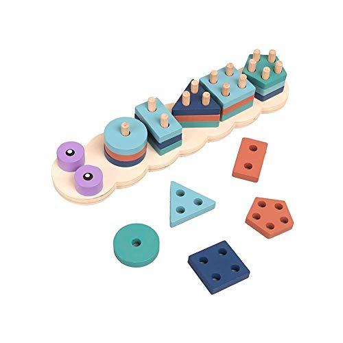 SYXX Jouets éducatifs for Enfants, Caterpillar Forme Matching Jouet, Jouet éducatif Bricolage Kit, Cadeaux créatifs for Enfants Éducation