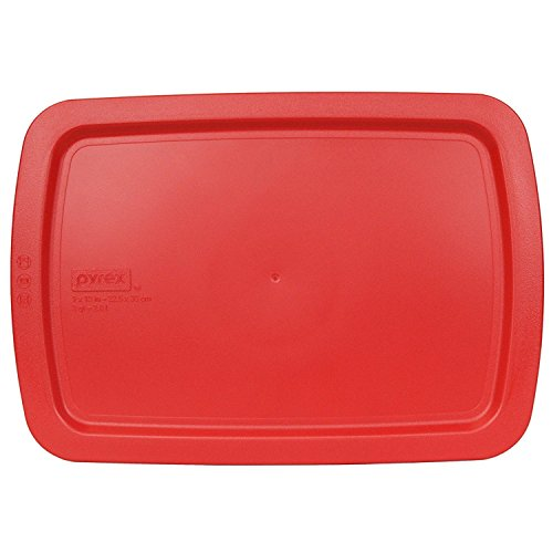 Pyrex Red Plastic Lid for 9' X 13' 3-qt C-233-PC for Oblong Easy Grab Glass Baking Dish
