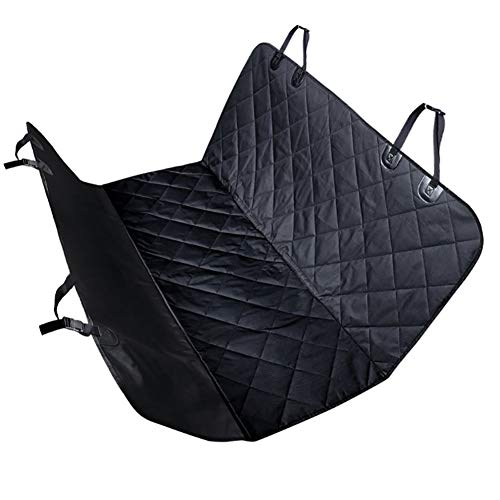 Funda de asiento para perro, impermeable, con soporte para asiento, protector de asiento de coche para mascotas, universal, color negro