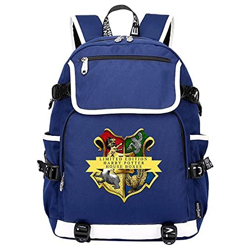 QLma Mochila de viaje para computadora portátil, mochila escolar universitaria de para hombres y mujeres con puerto de carga USB 45x37x16cm (style19)