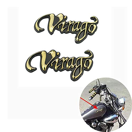 motoparty オートバイ 車 Virago 3D ステッカー デカール 防水 ロゴ バッジ 燃料タンクドレスアップ シール 立体 車用 ヤマハビラーゴ Yamaha XV 125 250 400 535 70 XV125 XV250 XV400 XV