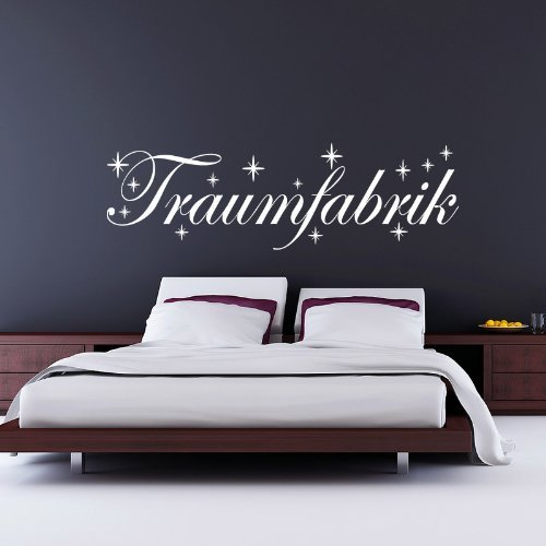 Wandtattoo Traumfabrik - 160 x 50cm - Farbe: Weiss