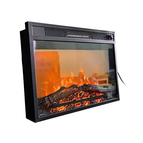 Elektrische open haard voor inbouw met afstandsbediening wandmontage 750 E 1500 Watt thermostaat vermogen timer uitschakeling installatie aan muur glas dimmer decoratie steen