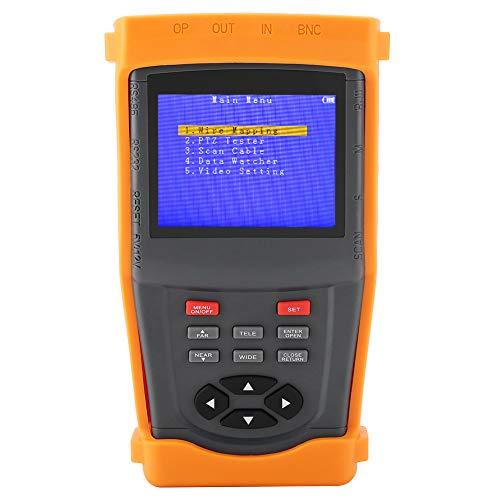 DC12V CCTV Tester, SML-INS Netzwerktester Multifunktions Überwachungskabeltest mit 3 5-Zoll LCD Display mit einer Auflösung 960 x 240