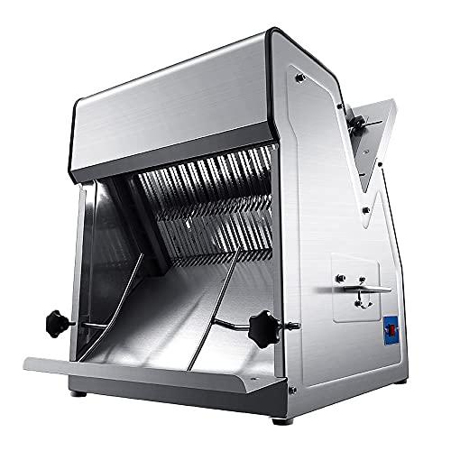 Kommerzielle Brotschneidemaschine, Automatische Toastschneidemaschine, 370 W Edelstahl-Obstbrot-Fleischschneidemaschine, 8 Schnittstärken, Ein-Tasten-Start