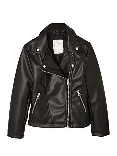 Vertbaudet Biker-Jacke für Mädchen schwarz 134