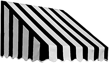 Amazon Com 3 38 Ft Wide San Francisco Window Entry Awning 31 In H X 24 In D Black White Sporting Goods Garden Outdoor