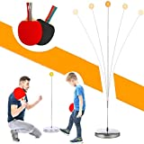 Table Tennis Trainer Ping Pong Balls Paddles Set Training Elastic Soft Shaft Equipment Trainer Practice Ball...