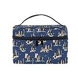 HaJie - Neceser de maquillaje de gran capacidad, organizador de animales, pingüino Gentoo de viaje, portátil, neceser de almacenamiento, bolsa de lavado para mujeres y niñas