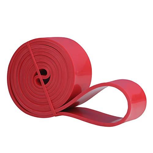 Amazon Brand - Umi - Banda Elástica de Resistencia Cuerda de Fuerza para Fitness, Crossfit, Pilates, Estiramientos,Dominadas (4 - Strong (Rojo))