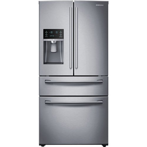 SAMSUNG RF25HMEDBSR French Door Refrigerator, 24.7 Cubic Feet, Stainless Steel