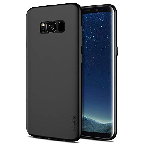 X-level Funda Samsung Galaxy S8 Plus, [Guardian Series] Suave TPU Gel Silicona Ultra Fina Anti-Arañazos y Protección a Bordes Phone Case Carcasa para Samsung Galaxy S8 Plus - Negro