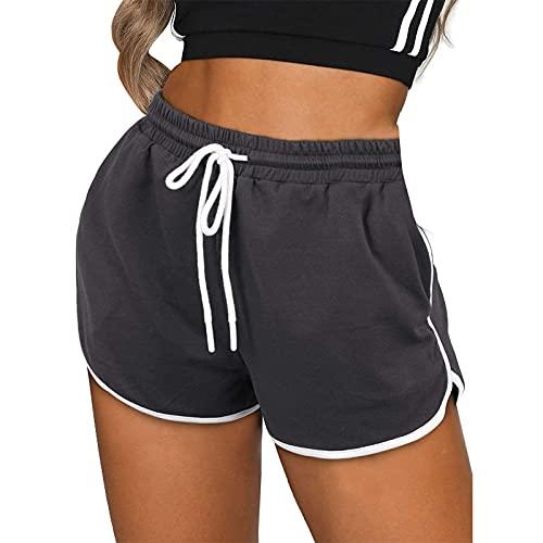 Junjie Pantalón Cortos Deportivos de Color Liso/Tie-Dye para Mujer Pantalones Cortos Suelto y Cómodo Shorts de Yoga Transpirables Mallas Fitness Pantalones Ideal para Pilates y Estiramiento