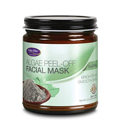 LIFE-FLO Algae Peel-off Facial Mask, Fine Powder, Unscented (Jar) | 9oz