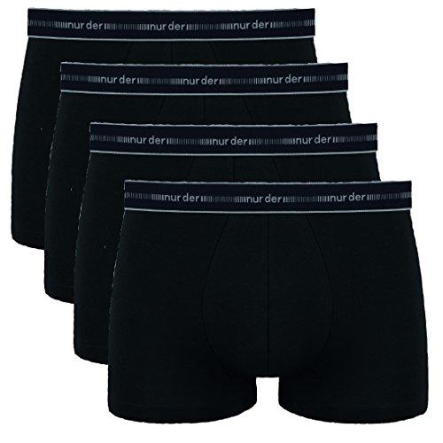 NURDER 4er Pack Boxer, Herren Boxershorts, Pants, Cotton 3D FLEX, Unterhosen (6 / (L), 4 schwarz)