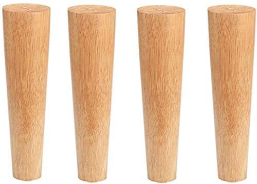 Möbelbeine Runde Eiche, Sofa Ersatzbein, Perfekt Für Mid-Century Modern Für Couchbett Couchtisch Füße, 4Er-Set, Oblique Tapered