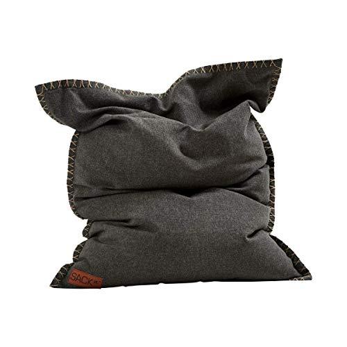 SACKit - SQUAREit Cobana Junior Grey - Grau quadratischer Indoor/Outdoor Sitzsack für Kinder, Jungen und Mädchen – EIN Sessel für das Kinderzimmer oder fürs Gaming im Jugendzimmer