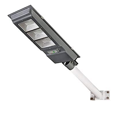 Solar Street Light, Dailyart 90W Outdoor Led Street Light Solar Powered with Remote Control/Motion Sensor 6500k IP65 Waterproof Dusk to Dawn Solar Lights for Yard, Garden, Street, Basketball Court