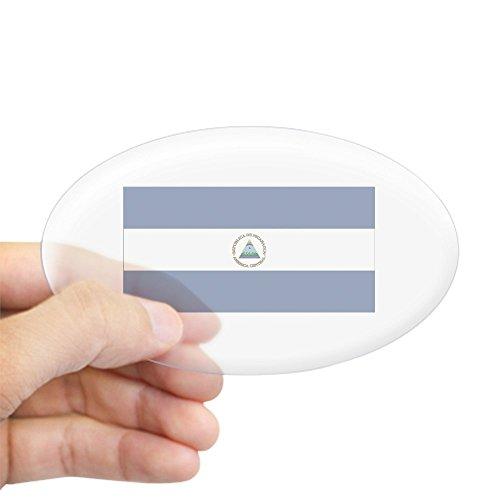 CafePress Nicaragua Oval Sticker Oval Bumper Sticker, Euro Oval Car Decal