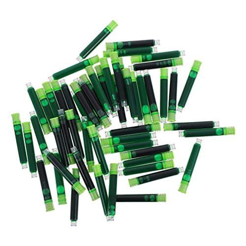 TOYANDONA 2 Juegos de Cartuchos de Tinta Verde Borrables Cartuchos de Repuesto para Plumas Estilográficas Pluma Caligrafía Suministros de Oficina