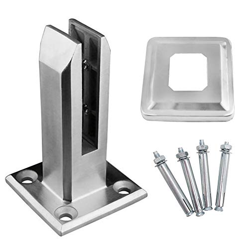 Poitwo RVS Zwembad Glas Clip, Heavy Duty RVS Glas Zwembad Hek Clip Vloer Glas Stand Vaste Fittings Klem