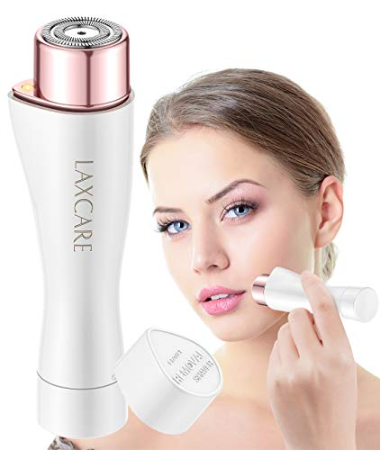 Facial Hair Removal for Women, Laxcare Painless Perfect Hair Remover Waterproof with Built-in LED Light (White+Rose)