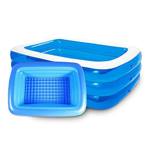AWJK Cubierta de Protección Ambiental al Aire Libre Piscina Inflable de baño Infantil PVC Piscina Family Garden Beach Plegable Piscina para niños,262 × 160 × 60cm