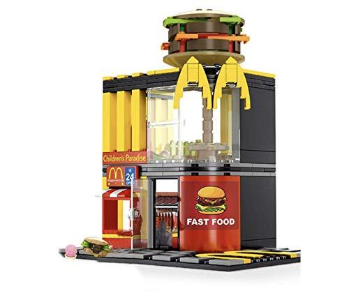 General Jim's 274 Piece Toy City Street Creator Fast Food Burger Joint Restaurant Building Blocks Set